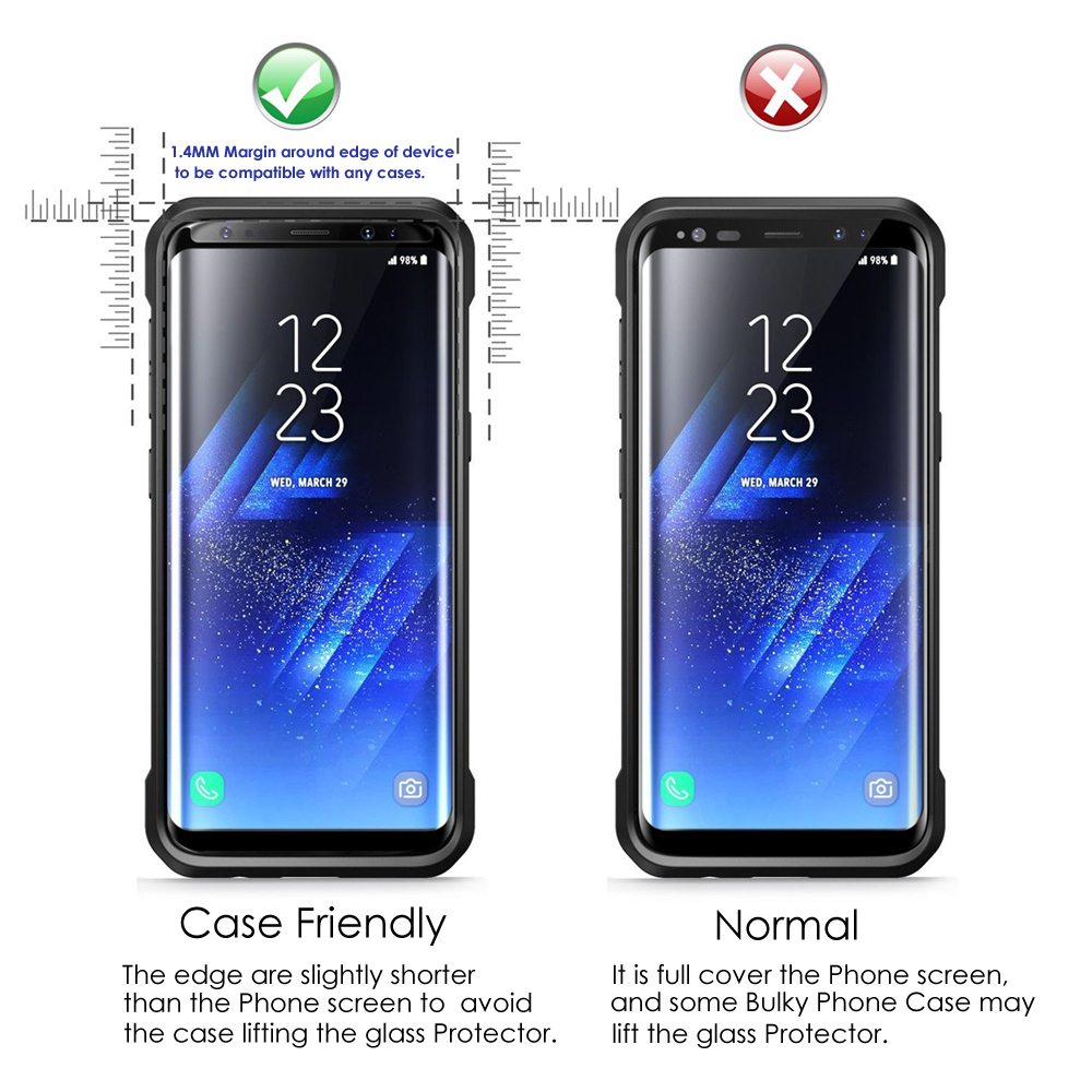 huge selection of 91c15 f4511 US $12.99 |Akcoo S8 Plus Screen Protector with installation tray Samsung  Galaxy S8 Plus 3D full covered tempered glass screen protector-in Phone ...