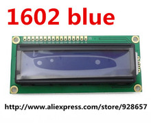1pcs LCD1602 LCD monitor 1602 5V blue screen and white code for ARDUINO(China (Mainland))