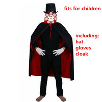Red Black Children Anime Death Cloak Hat Mask Costume Cosplay Carnival Stage Halloween Costumes Adult Party