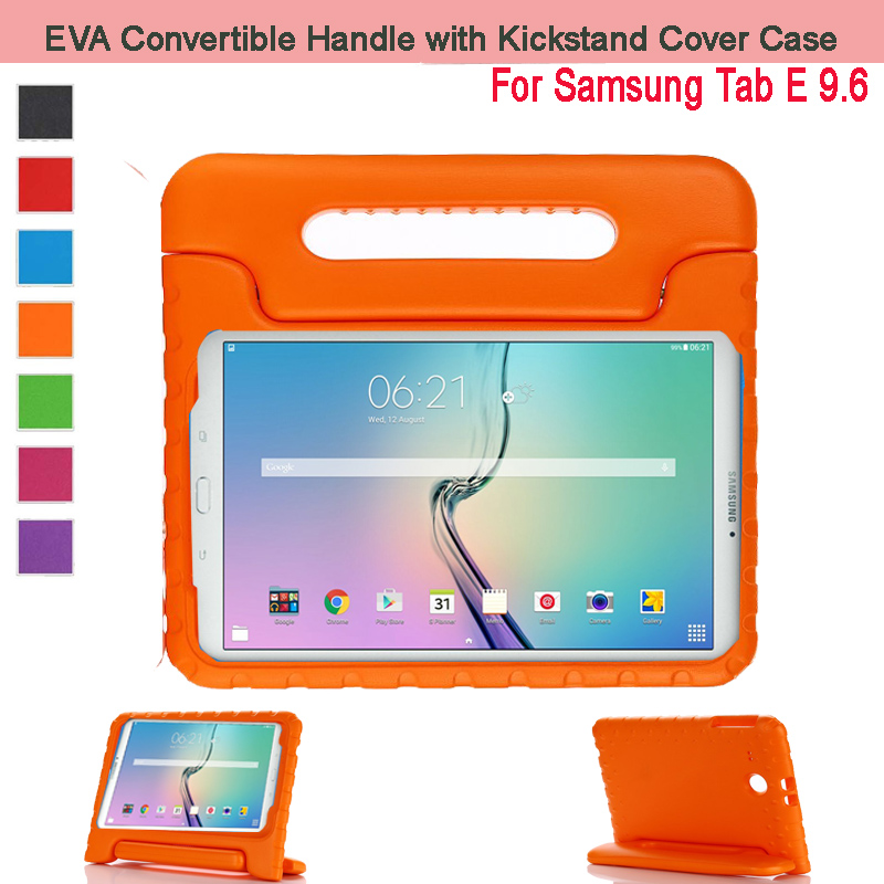 EVA Shockproof Case Light Weight Kids Case Super Protection Cover Handle Stand Case For Samsung Galaxy Tab E 9.6 Tablet T560