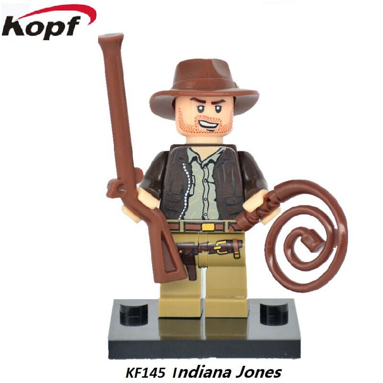 Super Heroes Single Sale Indiana Jones Jessica Johnes Hell Boy Bricks Education Building Blocks Children Gift Toys KF145 kf949 super heroes star wars mr kentucky macdonald luke skywalker wolverine indiana jones collection building blocks gift toys