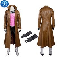 ManLuYunXiao X Men Gambit Costume Cosplay Marvel Comics Superhero Outfit Remy LeBeau Cosplay Costume Halloween Male Custom Made