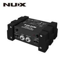 NUX PDI-1G Guitar Direct Box Guitar Direct Injection Phantom Power Box Audio Mixer Para Out Compact Design Metal Housing
