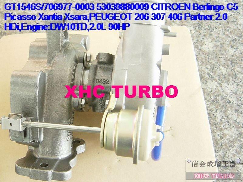 K03/53039880009 турбо Турбокомпрессор для CITROEN Berlingo C5 Picasso Xantia Xsara, 206 307 406 партнер DW10TD, 2.0L 90HP