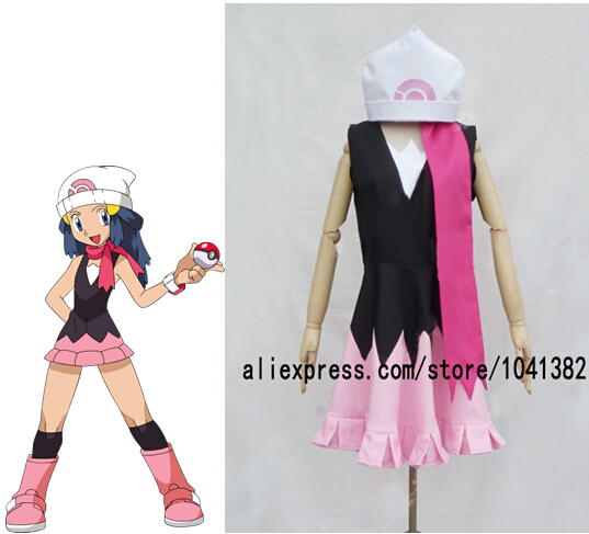 Pikachu Pocket Monsters Dawn Hikari Cosplay Costume-in Anime Costumes from Novelty u0026 Special Use on Aliexpress.com | Alibaba Group : dawn from pokemon costume  - Germanpascual.Com