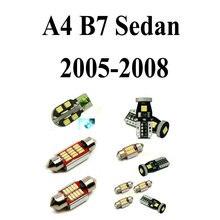 LED Interior Car Lights For Audi a4 B7 Sedan 2005-2008 Error Canceling Dome Reading Visor Door  FootWell Trunk Glove Box 18pc