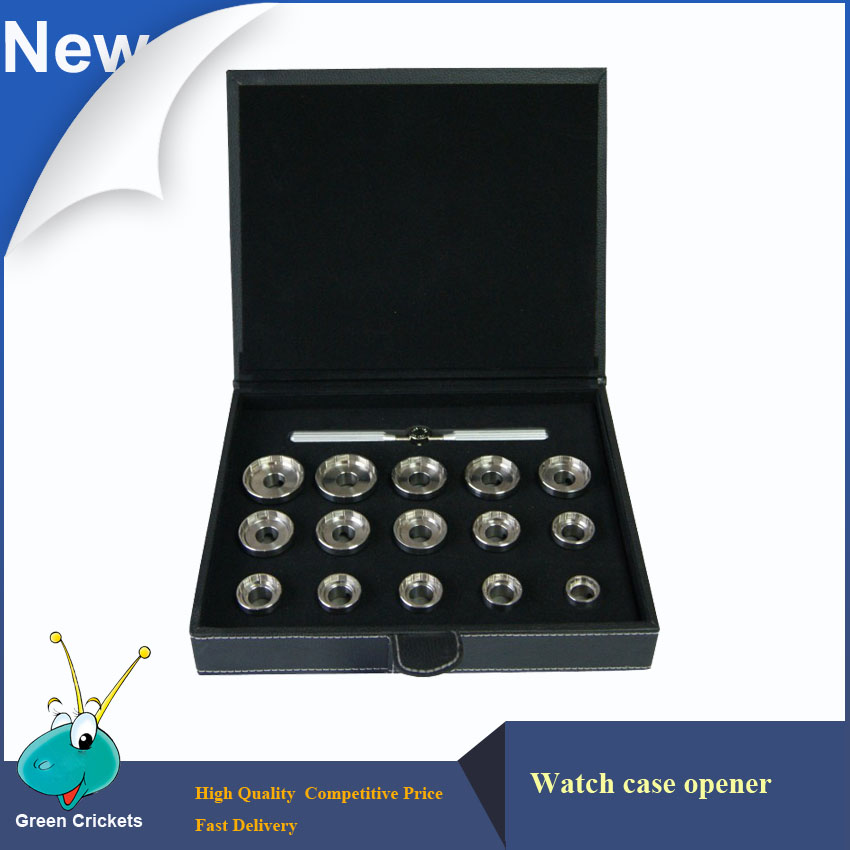 Ouvreur de boîtier de montre professionnel ensemble d'outils réomovales, 19.3mm ~ 44.7mm 15 Types outils ouvreur de boîtier de matrices