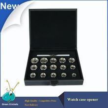 Profesjonalne Reomoval Watch Case Powrót Opener Narzędzia Zestaw, 19.3mm ~ 44.7mm 15 Rodzajów Matryc Case Opener Narzędzia