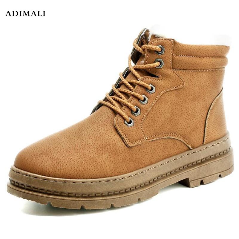 Здесь можно купить  Cheapest Winter Boots Men Fashion Fur Flock Winter Shoes Men Leather Winter Ankle Boots Men Warm Casual Men Boots 38-44  Обувь