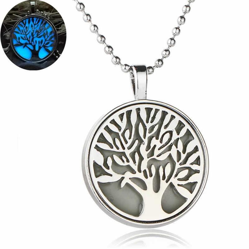 Tree Of Life Dark Luminous สร้อยคอเงินสร้อยคอสร้อยคอเรืองแสงในจี้สร้อยคอ Collares Maxi Choker เครื่องประดับ