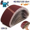 15PC Mix4 100MM 609MM Sanding Belts Aluminium Oxide 40 80 120 Grits Abrasive Sanding Screen For
