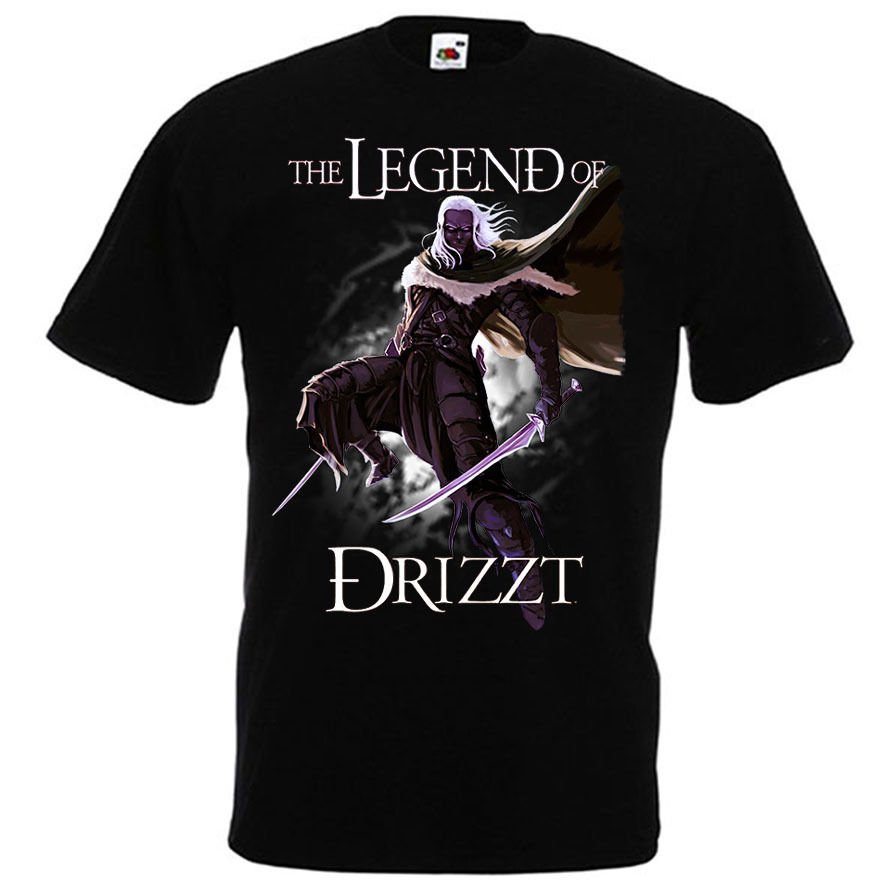 <font><b>Drizzt</b></font> Do'Urden The Crystal Shard Forgotten Realms Salvatore T-shirt Size S-3XL New T-Shirt Men Fashion T Shirts Top Tee image