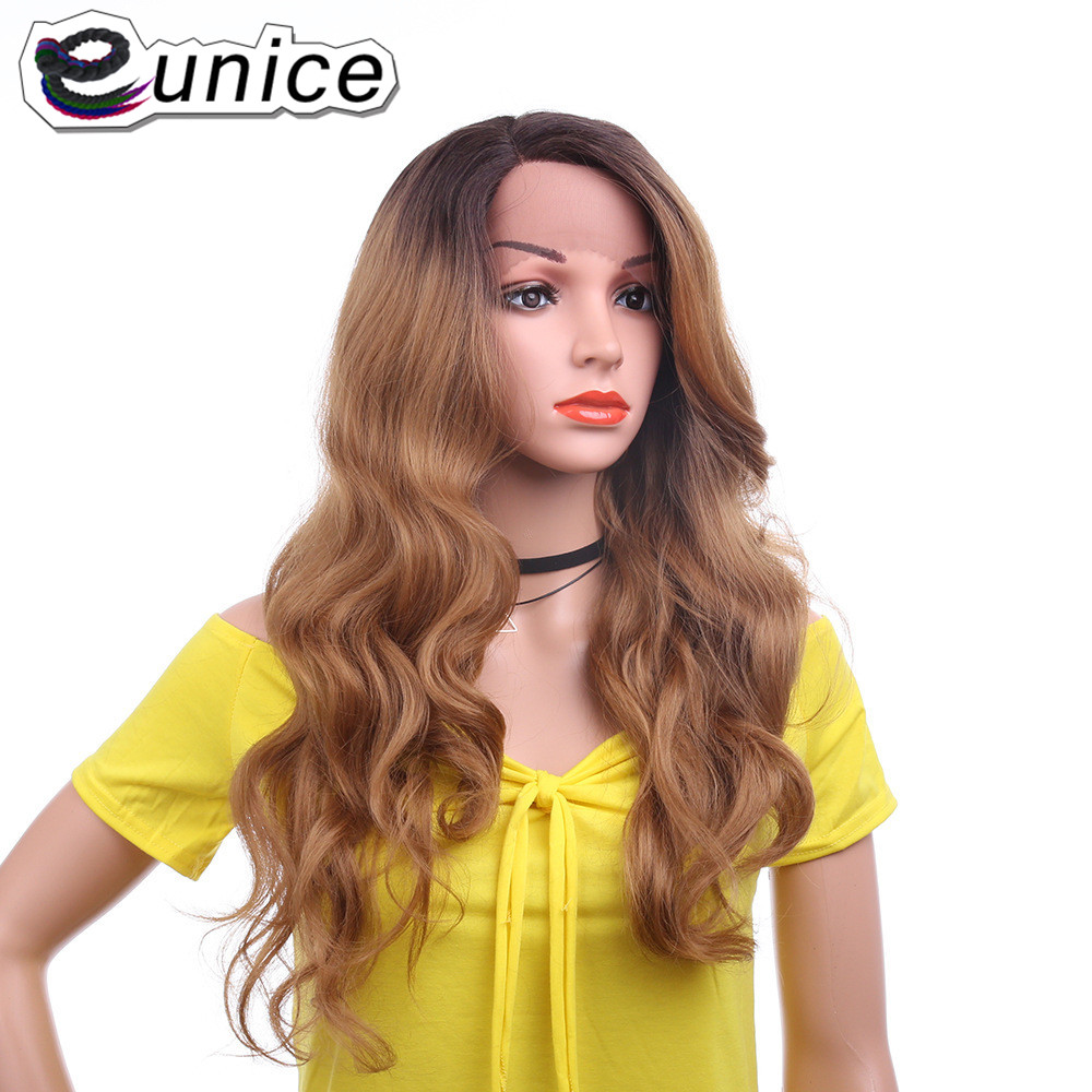 """Eunice Synthetic Lace Front Wig Natural Hair Long Wig 26""""inch BODY WAVE Hairstyle Lace Wigs With Bady Hair For Black Women USA"""