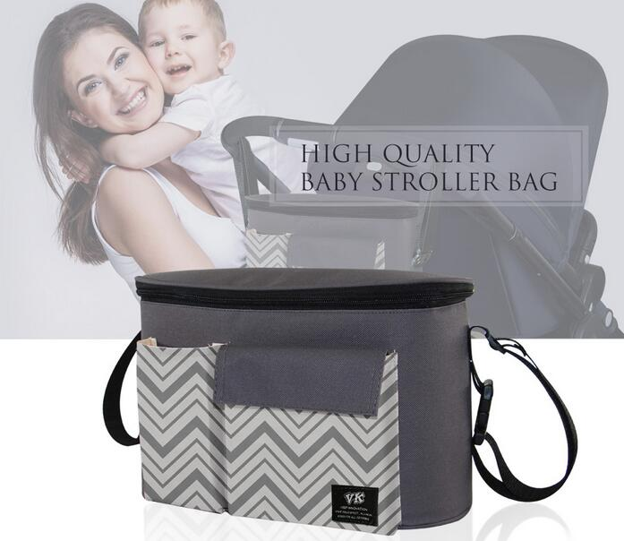 Diaper-Bags Nappy Strollers Mommy Baby Waterproof Brand for Thermal-Insulation