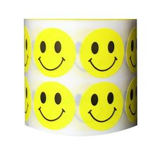 Creative Sticker 1000pcs / Roll 2.5cm Smiley Child Emoji Fun Wall Art Kindergarten