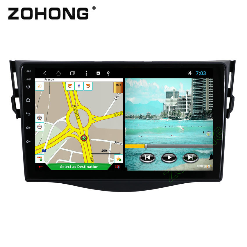 2 5D 9inch PIP Octa 8 Core Android Car GPS DVD Player GPS for Toyota RAV4