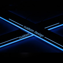Custom LED Light Illuminated Door Sill Scuff Plate Guard Cover car styling For SEAT LEON CUPRA