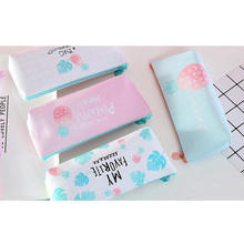 1 Pcs/lot Lovely Korean Simple Small Fresh Fruit Pineapple Pencil Case School Supplies Stationery Gift