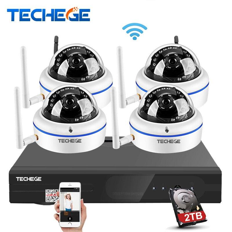 bilder für Techege 4ch drahtlose 1080 p nvr spielen & stecker 2.0mp 1.0mp HD System Außen IP WIFI Kamera Eseenet App Überwachung CCTV System