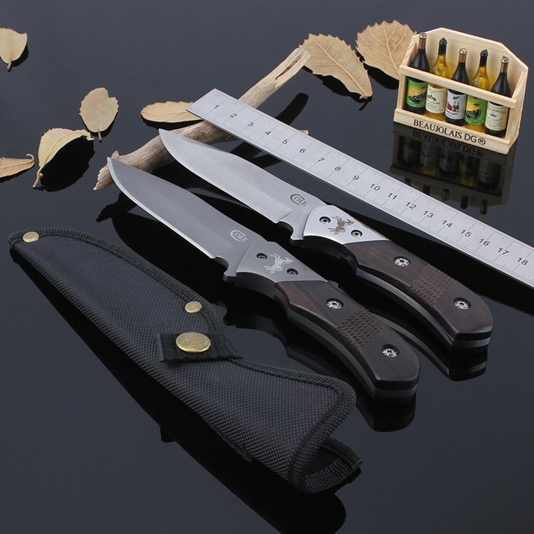 58HRC Hunting font b Knife b font COLT Fixed 8CR13MOV Blade font b Knife b font