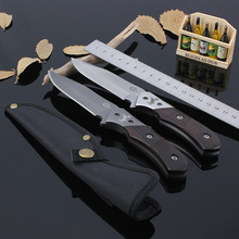 58HRC Hunting Knife COLT Fixed 8CR13MOV Blade Knife Wood Handle Nylon Sheath Survival Tactical Camping Knives Outdoor Tools