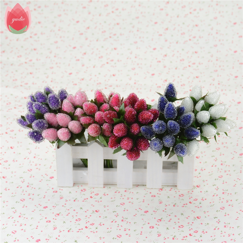 12pcs Artificial Crystal Style StrawBerry Flowers Bouquet For ...