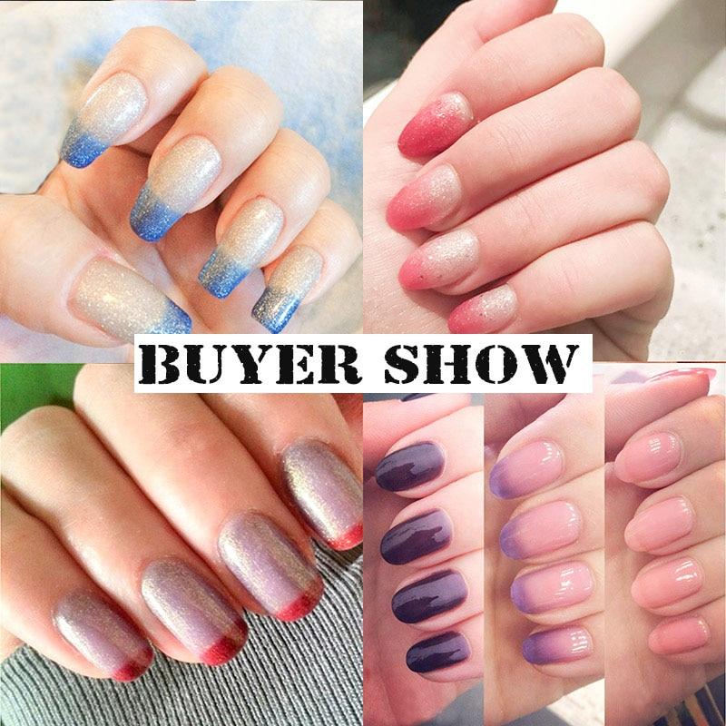 Azure Beauty 12 ml / pcs Cambio de temperatura Glitter Color Gel - Arte de uñas - foto 4