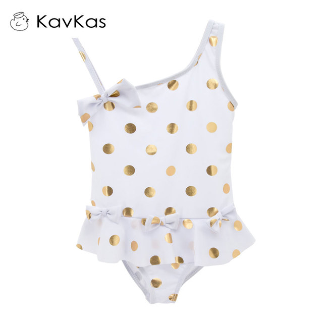 fff4c908e8dc9 Kavkas Toddler Girl Swimwear Cute Dot Pattern Children Bathing Swimming  Surfing Tankini Kids Swimsuit