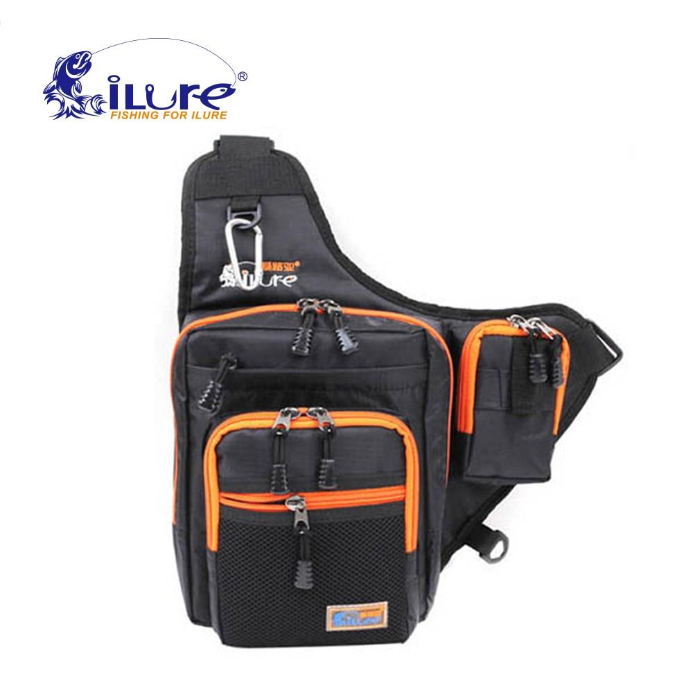 iLure Fishing Bag Canvas Satchel 32*39*12cm Black/Orange/Green - Fishing