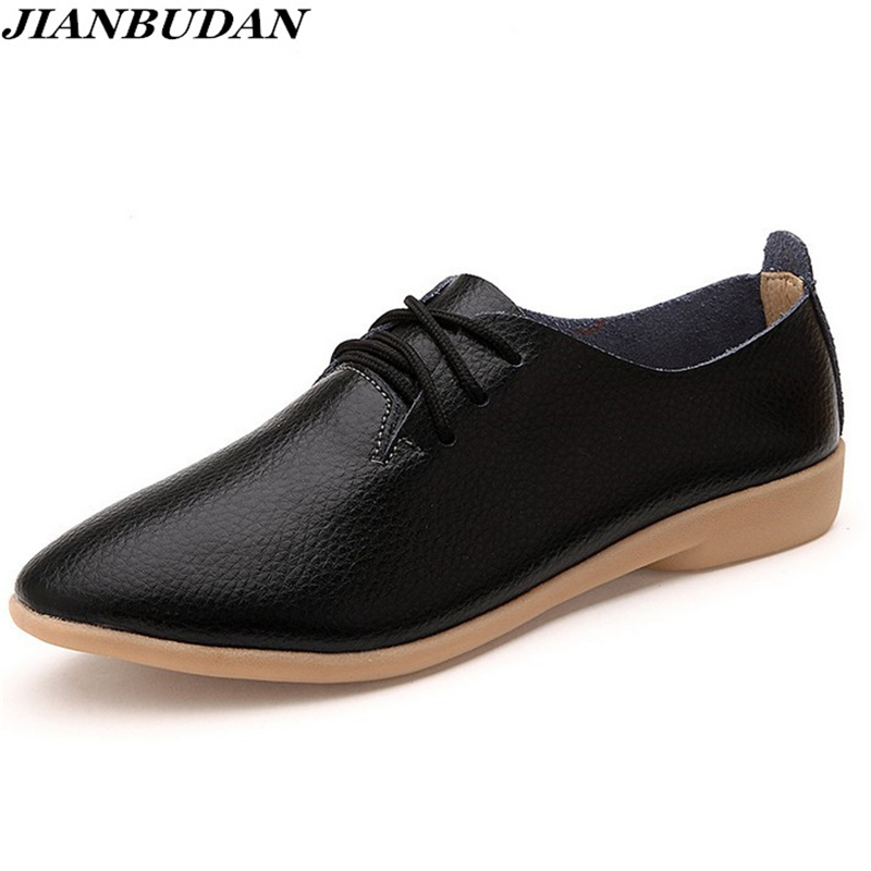 Women Casual leather shoes 2017 spring new fashion simple leather shoes black / white women breathable genuine leather shoes