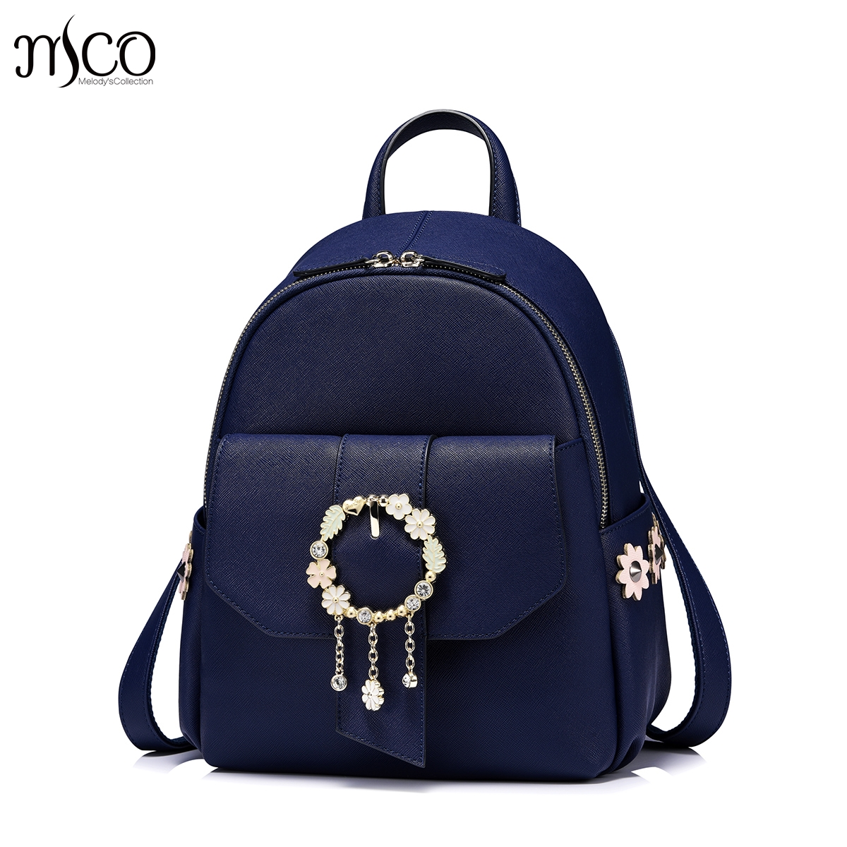 New 2017 designer brand luxury jewelry women bags female Kasper Flower backpack mochila for Girls School Bags luxury brand fashion designer jewelry flower purse shoulder women backpack school bags for teenager girls female travel backpack