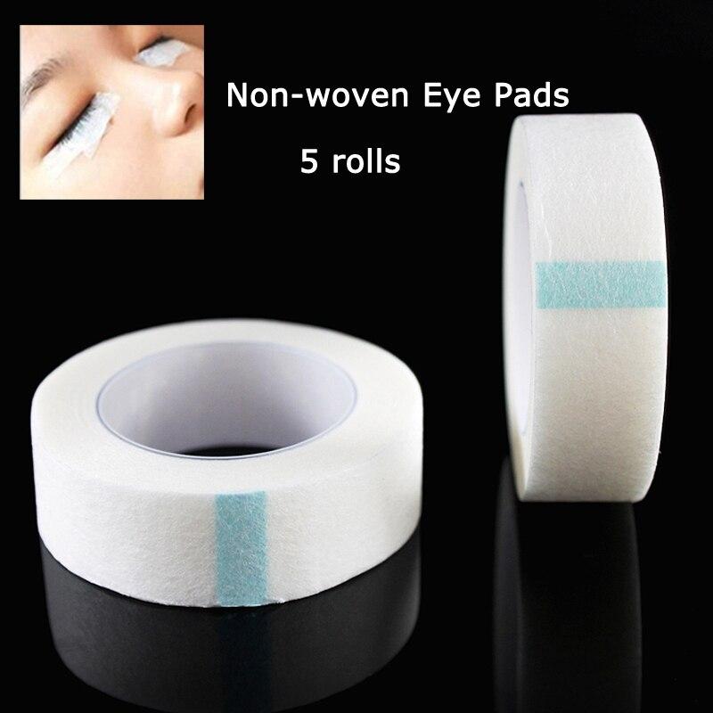 5rolls Eyelash Extension Lint Free Eye Pads White Tape Under Eye Pads Paper False Eyelash Patch MakeUp Tools Tape making machine
