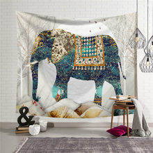 Decorative Mandala Elephant Wall Hanging Tapestry Bohemian Macrame Wall Blanket Cloth Bedspread Home Decor Curtains Tapestry Hot(China)
