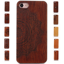 For iphone 7 Case Luxury Natural Wood Phone Iphone 5 5S 6 6S 6Plus Plus 7Plus Cover Wooden High Quality Shockproof