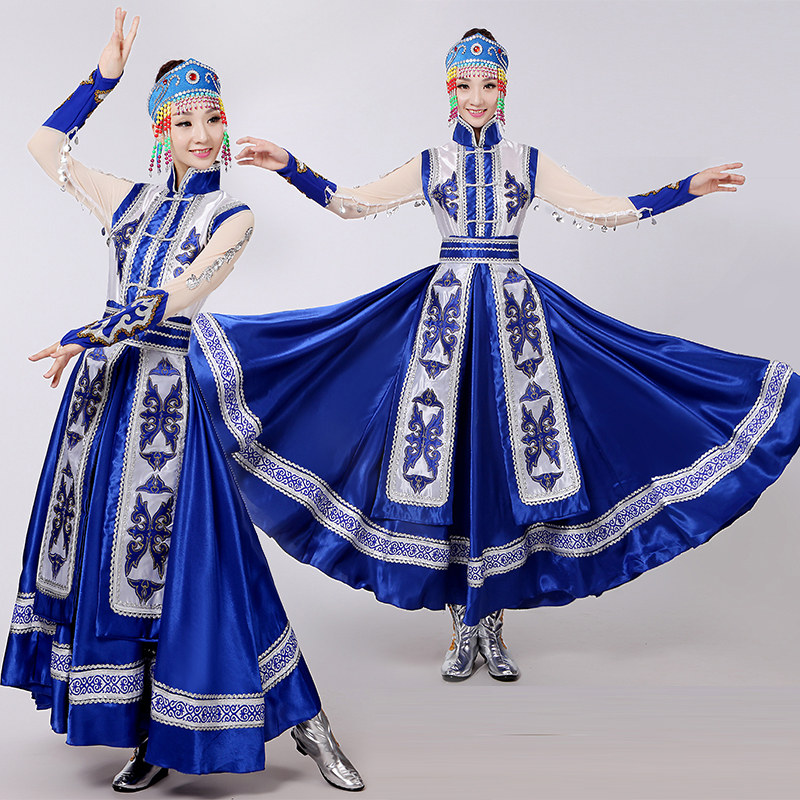 Chinois Performance Mongolie Robe Longue Danse Color1 Femelle Costumes Minorités De Ethniques Latine Vêtements color2 Conception D'expansion Des wzvqX1qpU
