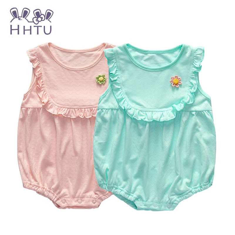 HHTU 2017 Newborn cartoon Baby girls Rompers Clothes Summer  Cotton Costume buckle rompers jumpsuit newborn baby clothes dress summer style short sleeve baby gentleman tie rompers love mama papa jumpsuit baby boys girls costume jeans newborn baby clothes