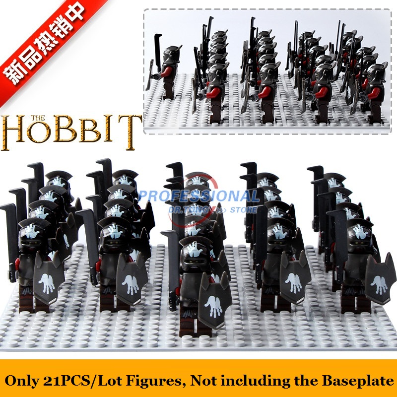 21PCS/Lot Medieval Castle Knights The Lord of the Rings Mini Building Blocks Brick Toys Armor The Hobbit Gladiatus Figures keys to the castle