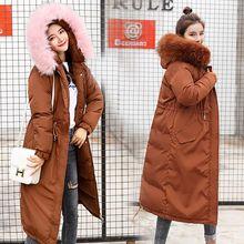 Brieuces New 2018 Winter Coat Women Military Outwear Hooded Snow Long Parka Thicken Down Cotton Warm Fur Winter Jacket Women цены онлайн
