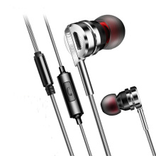 Original PTM Earphone D05 Zinc Alloy HiFi Headset BASS Metal Earbuds With Mic for Earpods Airpods