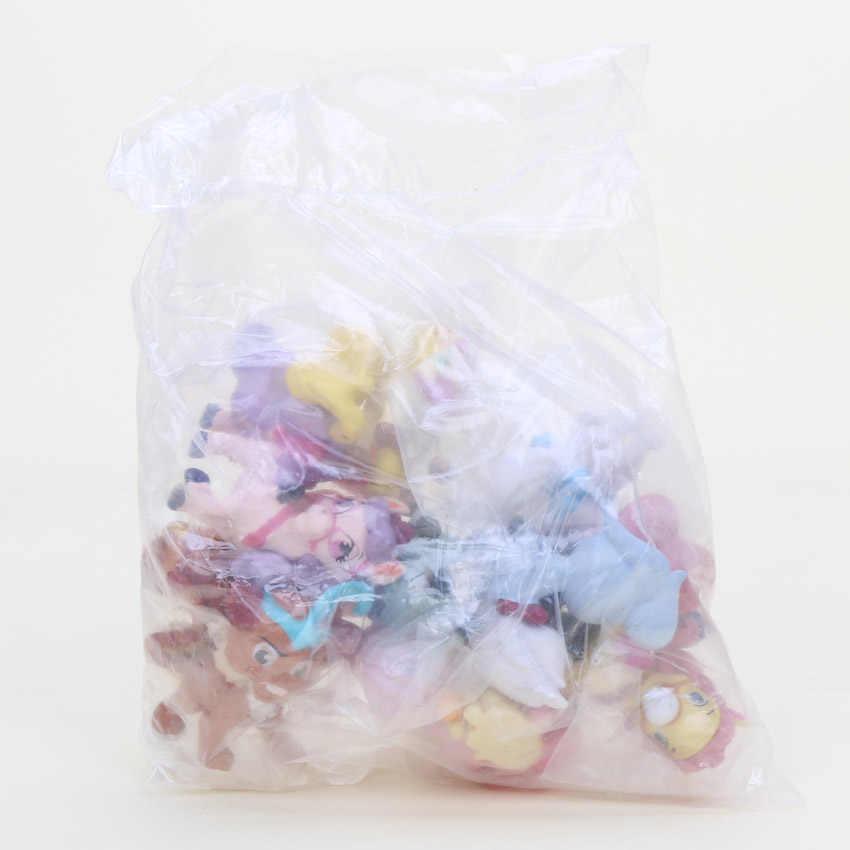 4-6 cm 12 pçs/set Bonito Dos Desenhos Animados Princesa Palácio Animais Filhote de Cachorro da Branca de Neve PVC Figura Coleção Toy