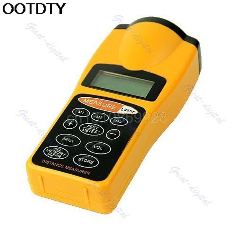 Lcd Ultrasonic Laser Pointer Distance Measure Range Finder
