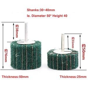 Image 4 - 6mm מברשת הגעלה כרית שוחק גלגל ניילון סיבי טחינת מלטש ראש מרוט ליטוש גלגל סיבי טחינת גלגל עבור Dremel