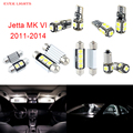 10 unids led canbus luces interiores kit package para volkswagen vw jetta mk vi (2011-2014)