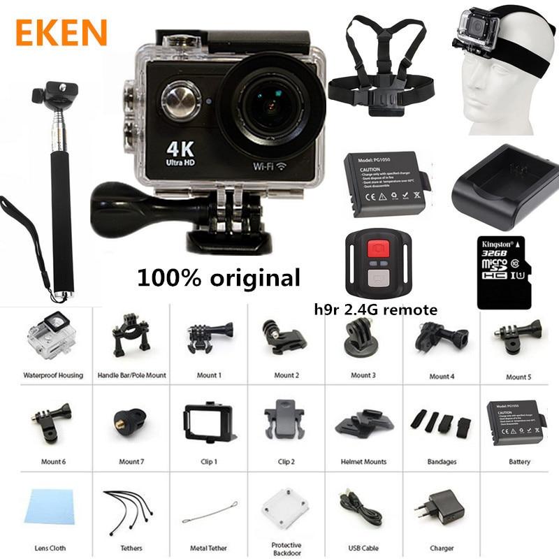 New Arrival Action Camera 100 Original Eken H9 H9R Ultra HD 4K 30M sport 2 0