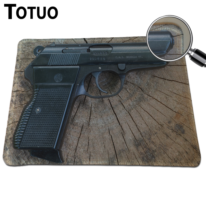Fashion Customized Pistols Print Mousepad Anti-Slip Durable Rubber Mousemat PC Computer Optical Mouse Pad Speed Gaming Mice Mat