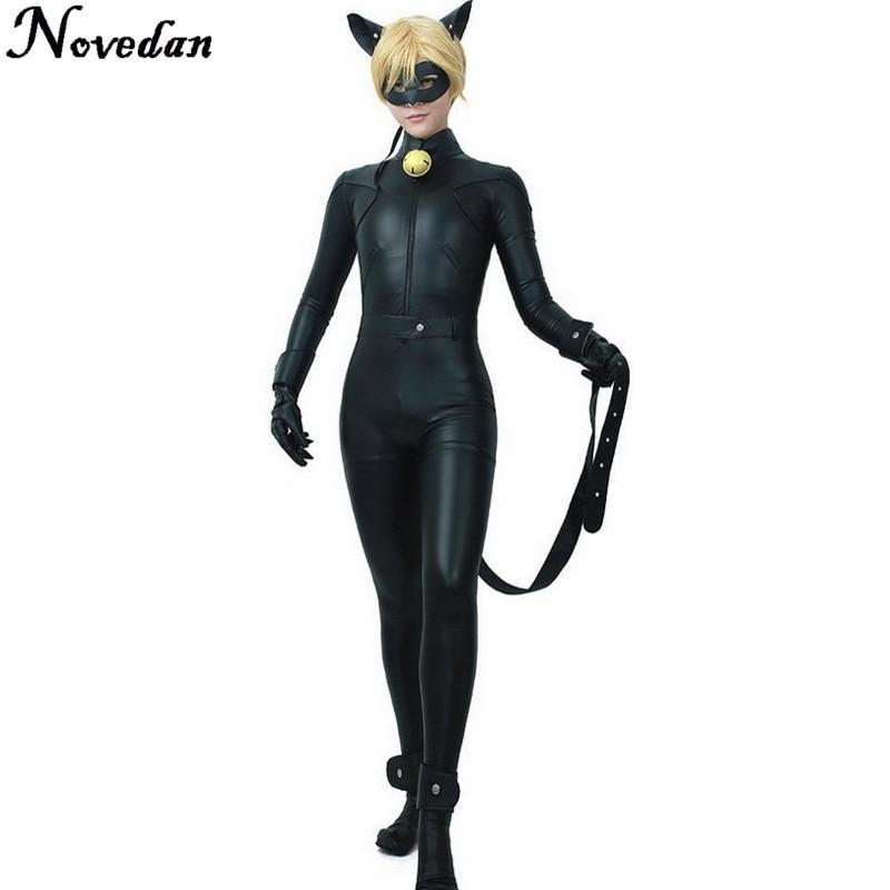 Miraculous Ladybug Cat Noir Cosplay Costume Suit Fantansia Kids Ladybug Black Dress Costume Bodysuit Boy Girl Party Jumpsuit