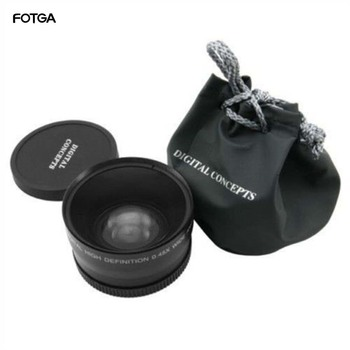 FOTGA 58mm 0.45x Wide Angle & Macro Conversion Fixed Focus Lens 0.45x 58 for CANON NIKON SONY 58MM Lens
