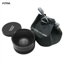 Fotga 58mm 0.45x 광각 및 매크로 변환 고정 초점 렌즈 0.45x58 canon nikon sony 58mm 렌즈 용