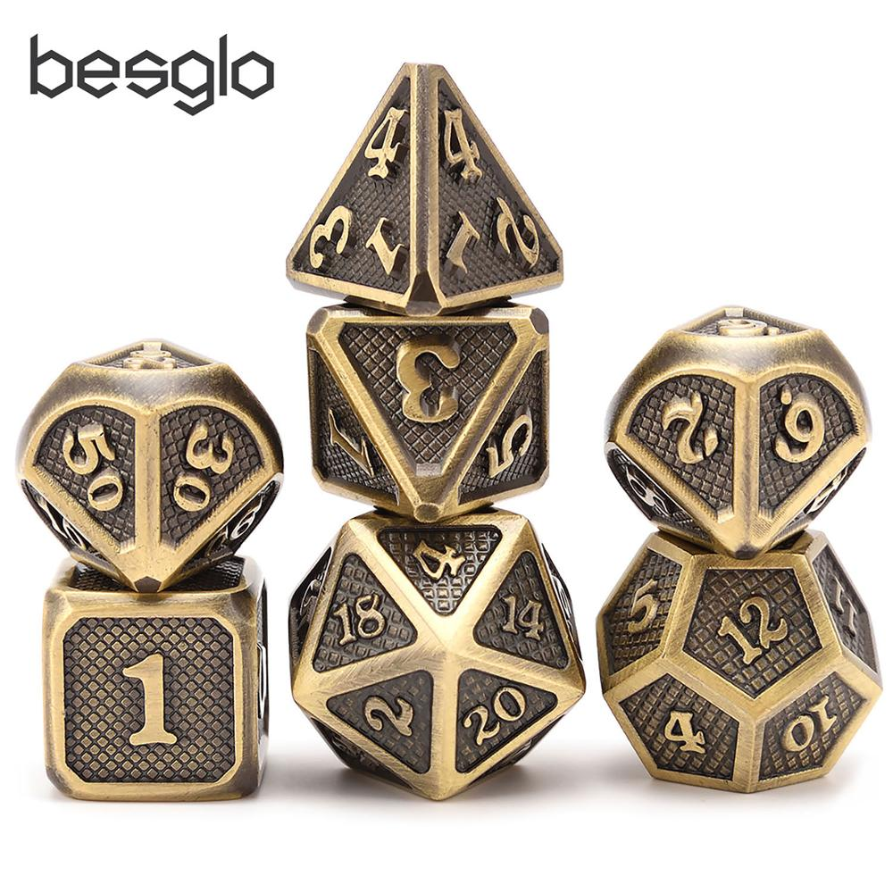 Dragão escalas novos dados de metal d4 d6 d8 d10 d12 d20 com bolsa para dnd rpg mesa jogos