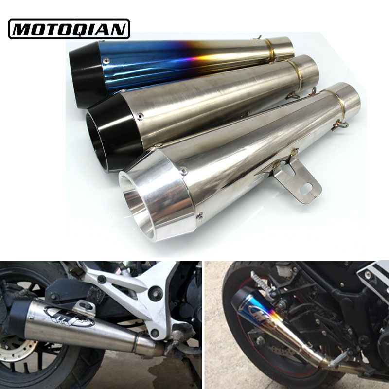 Universal 51mm Motorcycle M4 Exhaust Muffler Escape Pipe Case For Ducati Monster 400 620 695 696 796 821 1100 1200 Accessories